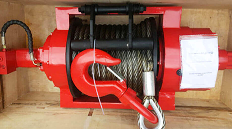 HWE 150 Hydraulic Winch Exported To South Africa